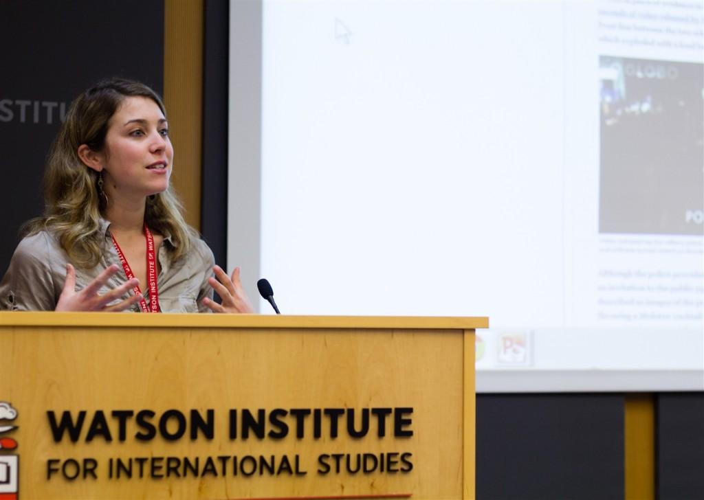 Alexandra Ulmer speaking on change in Chile.